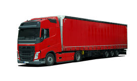Truck with semi trailer Royalty Free Stock Images