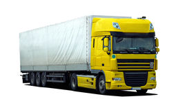 Truck with semi trailer Royalty Free Stock Photos
