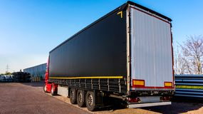 The truck with the semi-trailer royalty free stock photography