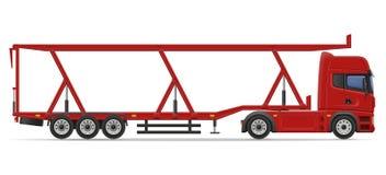 Truck semi trailer for transportation of car vector illustration Stock Image