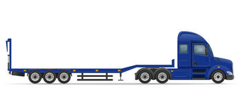 Truck semi trailer for transportation of car vector illustration Royalty Free Stock Photo