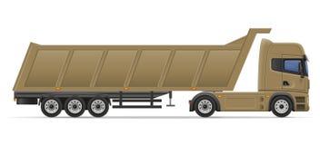 Truck semi trailer for transportation of goods vector illustrati Stock Images