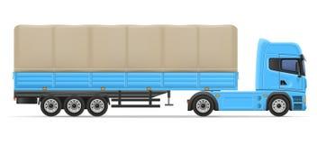 Truck semi trailer vector illustration Stock Photo