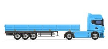 Truck semi trailer vector illustration Stock Photography
