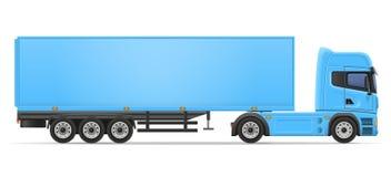Truck semi trailer vector illustration Stock Image