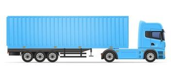 Truck semi trailer vector illustration Stock Images