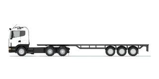 Truck with semitrailer platform Royalty Free Stock Images