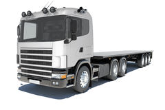 Truck with semitrailer platform Royalty Free Stock Image