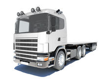 Truck with semitrailer platform Stock Image