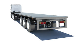 Truck with semitrailer platform Royalty Free Stock Photography