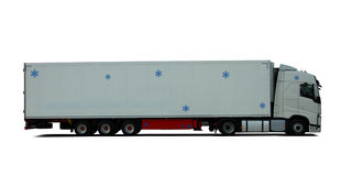 Truck with semitrailer refrigerator Royalty Free Stock Photos