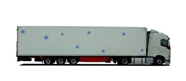 Truck with semitrailer refrigerator Royalty Free Stock Photography