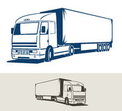 Truck with semitrailer. Vector illustration. Truck with semitrailer - styled illustration Royalty Free Stock Images