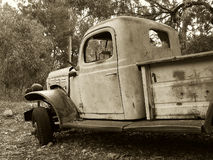 Truck in Sepia stock image