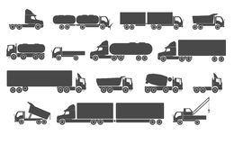 Truck set Royalty Free Stock Image