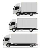 Truck set. Truck cargo set three models Stock Image