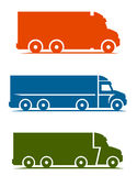 Truck set. On a white background Royalty Free Stock Photos
