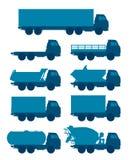 Truck set vector illustration