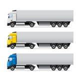 Truck set  on white vector Stock Images
