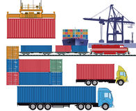 Truck and ship containers Stock Image