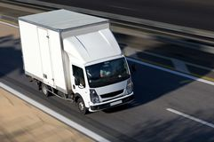 Truck shipping on highway Stock Image