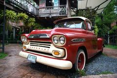Truck for show at ban bang khen art and cafe garden royalty free stock image