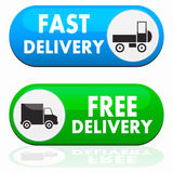 Truck Sign Transport Icons Royalty Free Stock Photo