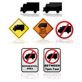 Truck signs Royalty Free Stock Images