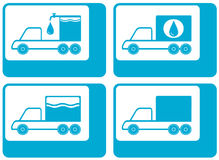 Truck silhouette - cargo water carter Stock Image