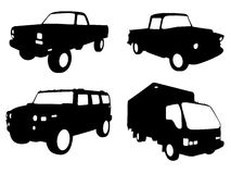 Truck silhouettes Stock Image