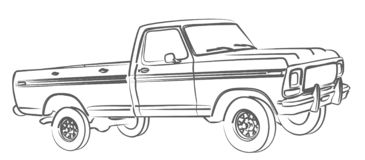 The Truck sketch. Royalty Free Stock Photography