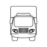 Truck small cargo transportation outline Royalty Free Stock Image