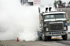 Truck smoke show Royalty Free Stock Photos