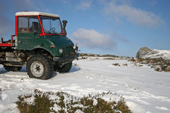 Truck on snow Stock Photography
