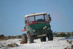 Truck on snow Royalty Free Stock Photo