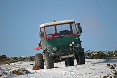 Truck on snow. On Dartmoor Royalty Free Stock Photo