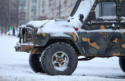 Truck in the snow Royalty Free Stock Photo