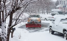 Truck Snow Removal Stock Images