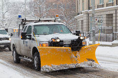 Truck with Snowplow fitted in Toronto Royalty Free Stock Photography
