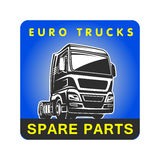 Truck spare parts cargo freight logo template Stock Photography
