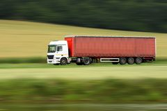 Truck and speed Royalty Free Stock Images