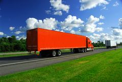 Truck speed highway Royalty Free Stock Photography