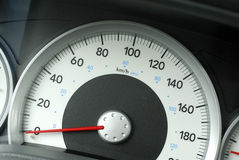 Truck Speedometer Stock Photo