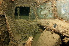 In a truck in the SS Thistlegorm, Red sea Stock Photo