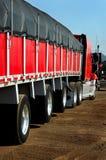 Truck in Steel Warehouse Door Stock Images