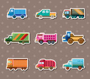 Truck stickers Stock Photo