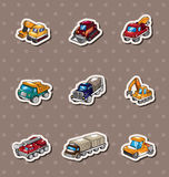 Truck stickers Stock Photo