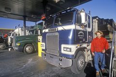 A truck stop in Mojave, California Royalty Free Stock Photography