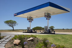 Truck stop on the N2 Highway South Africa. Truck stop on the N2 Highway near Mossel Bay Western Cape South Africa Appealing landscaping Royalty Free Stock Image