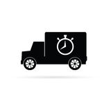 Truck with a stopwatch  Royalty Free Stock Photo